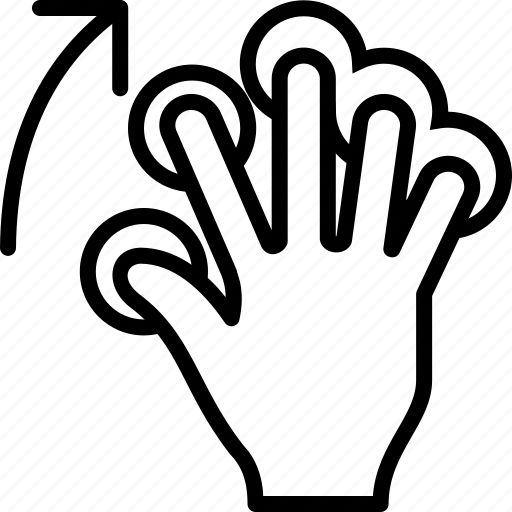 finger, gesture, hand, move, swipe, touch, up icon