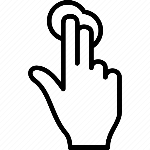 click, finger, gesture, tap, touch icon