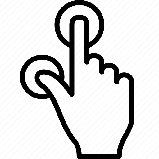 finger, gesture, pinch, tap, touch, zoom icon