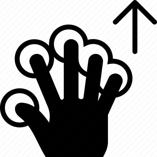 finger, gesture, hand, scroll, tap, touch, up icon