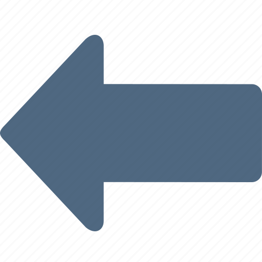 arrow, back, backward, left, navigation, previous icon