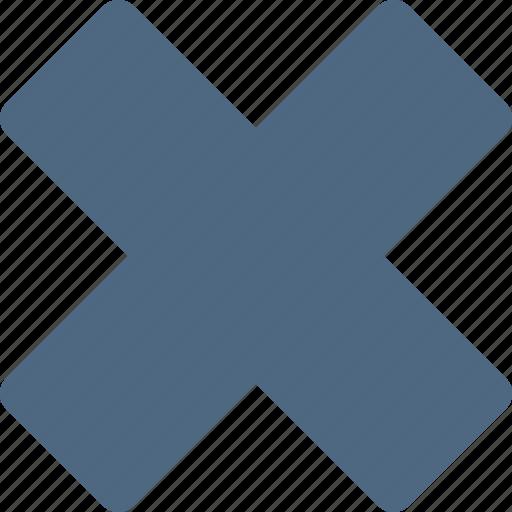 cancel, close, delete, error, exit, logout, remove icon