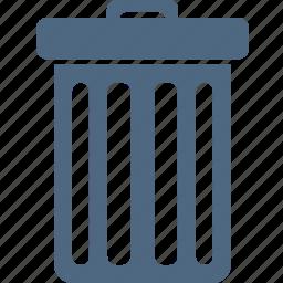 bin, delete, full, garbage, recycle, remove, trash icon
