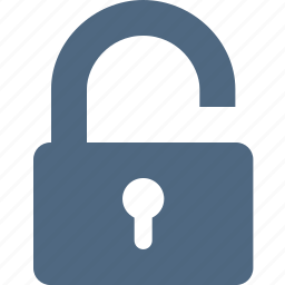 lock, padlock, password, secure, security, unclose, unlock icon