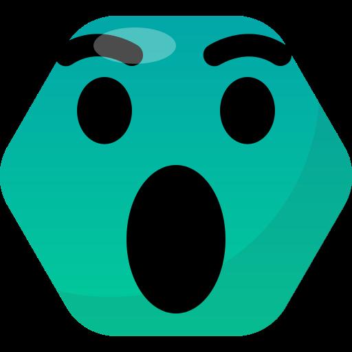 emoji, emoticon, face, reactions, wow icon
