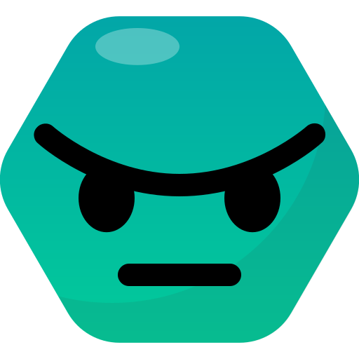angry, emoji, emoticon, face, reactions icon