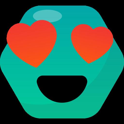 Emoji, emoticon, happy, love, reactions icon - Free download