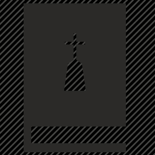 book, death, education, grave icon