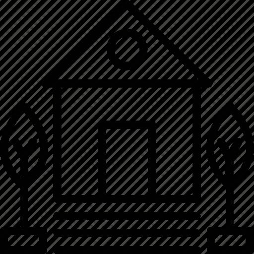 bungalow, cottage, hut, lodge, shack icon