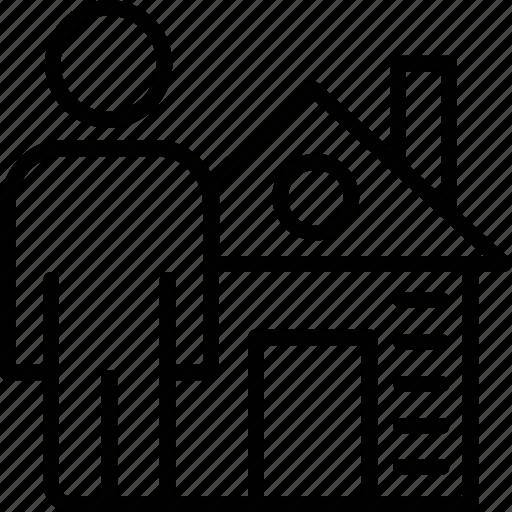 homeowner, householder, landlord, landowner, property owner icon