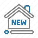 house, new, property, real estate icon