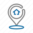 house, location, maps, place, property, real estate icon