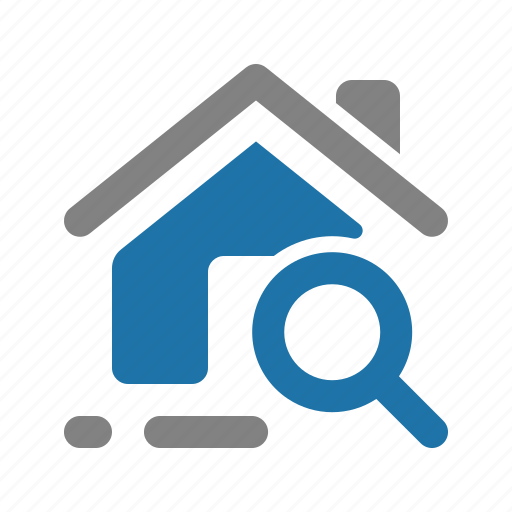 House, property, real estate, search icon - Download on Iconfinder