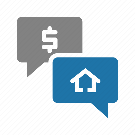 chat, house, offers, property, real estate icon