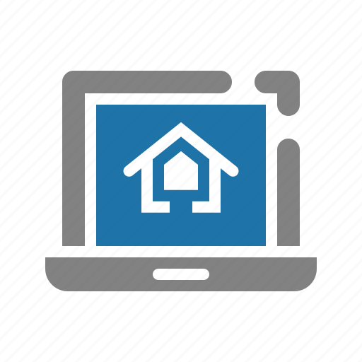 house, online, property, real estate icon