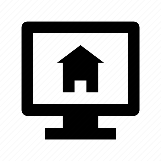home, monitor, online navigation, online property, online real estate icon