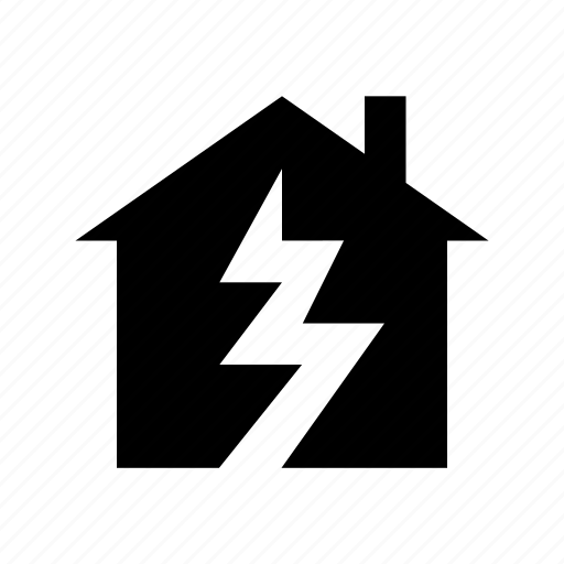 broken house, earthquake, house, house insurance, property insurance icon