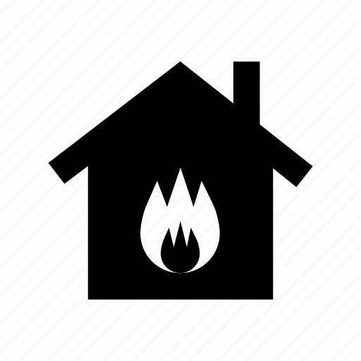 burning house, fire insurance, fire sign, house, house insurance icon