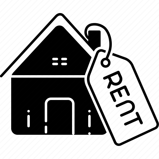 house, house rent, rent, residential, tag icon