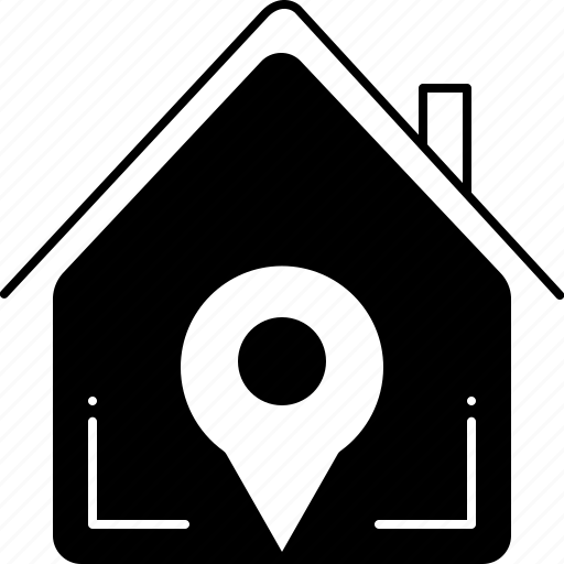 estate, home, location, navigation, property, real, real estate location icon