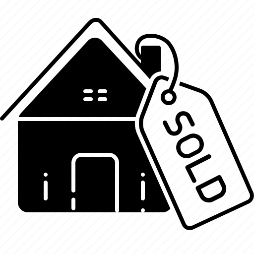 estate, house, property, real, real estate sold, sale, sold icon