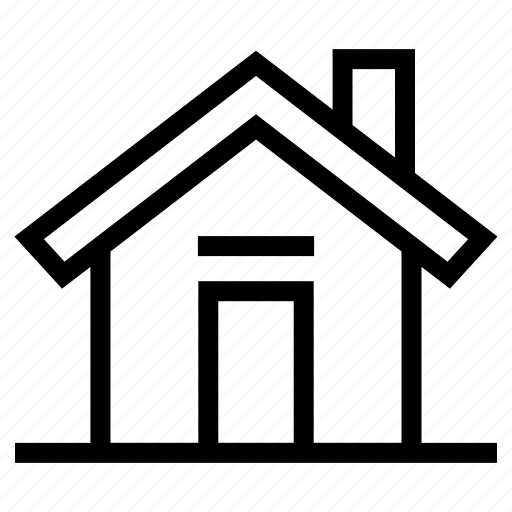 home, house, house with chimney, household, property, real estate, realty icon