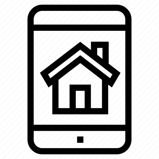 android app, home app, ios app, mobile app, property app, real estate app, smartphone icon