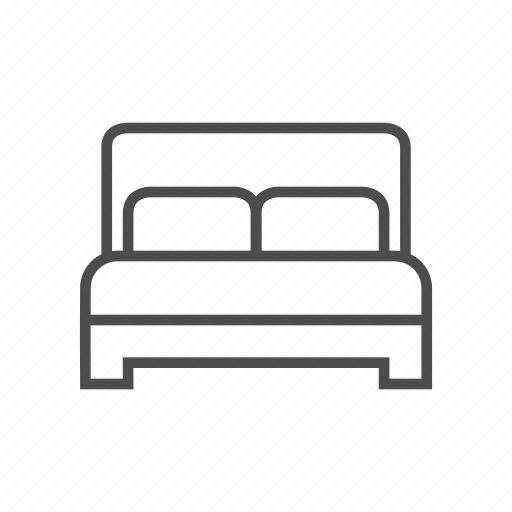 bed, bedroom, home, house, lay, relax, room icon