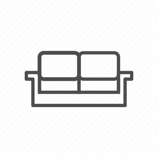 chair, couch, living room, relax, sitting room, sofa icon