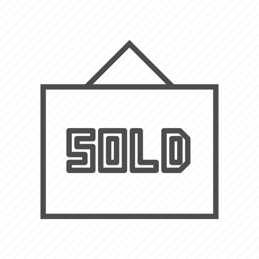 sale, sell, sold icon