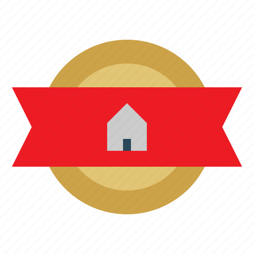 Prize, business, house, winner, award, home, medal icon