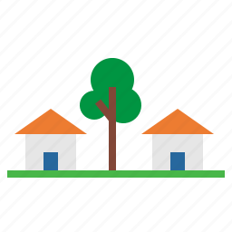 buildings, estate, home, houses, real icon