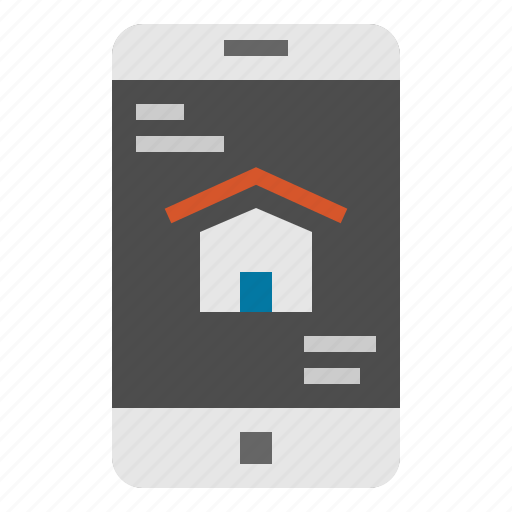 cellphone, house, mobile, phone, smartphone icon