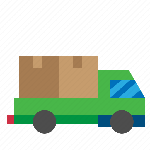 Automobile, delivery, truck, vehicle, mover, transport icon