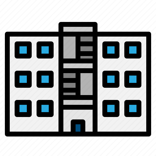 Building, buildings, estate, home, house, real icon - Download on Iconfinder