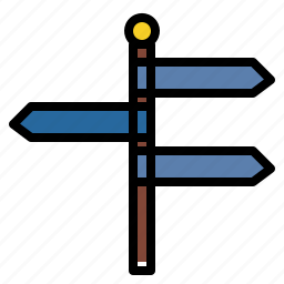 address, direction, directions, orientation, post, signs icon