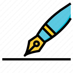 and, fountain, pen, signature, tools, write, writing icon