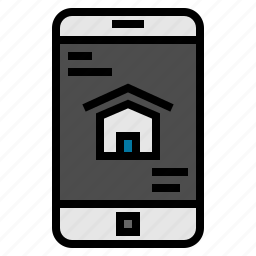 cellphone, house, mobile, phone, smartphone, technology icon