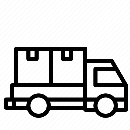 automobile, delivery, mover, transport, truck, vehicle icon