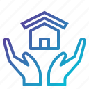 home, house, insurance, property, protection, real, security icon