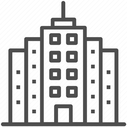 apartments, building, flats, hotel, residential flats icon