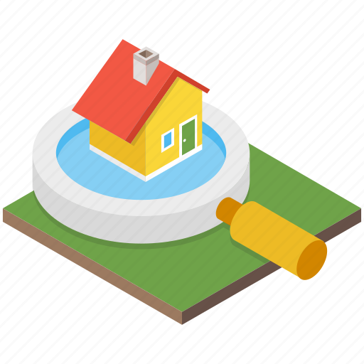 House search, magnifier, magnifying glass, property search, real estate icon - Download on Iconfinder