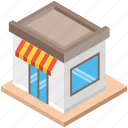 food stand, kiosk, market, shop, store