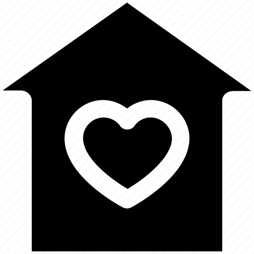 family, heart, home, house, love, valentine, warmth icon