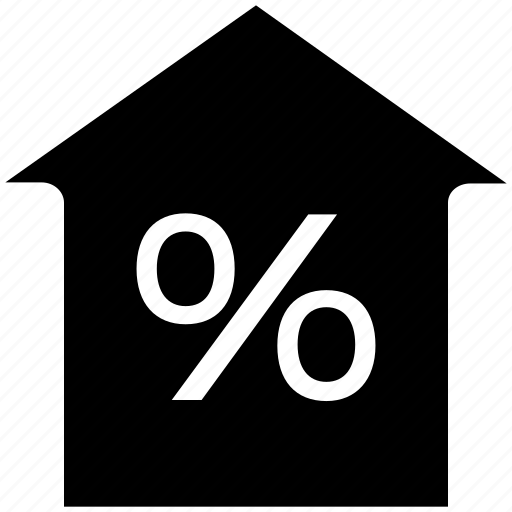 equity, home, house, percent, percentage, rate, revenues icon