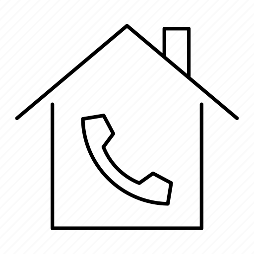 building, call, home, house, mobile, telephone icon