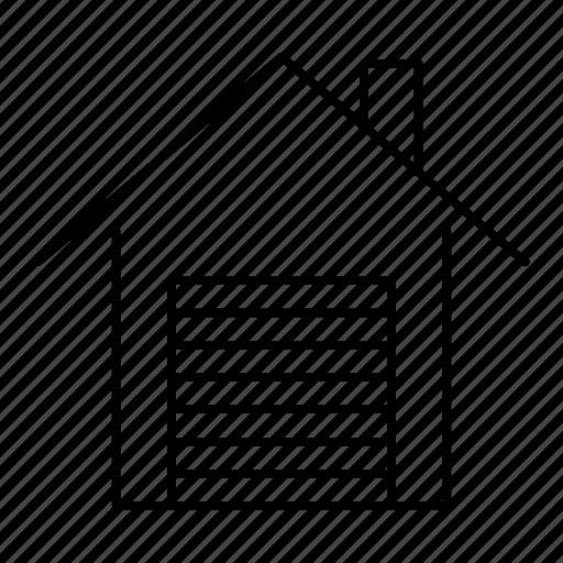 auto, building, garage, home, house icon