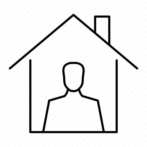 building, home, house, man, owner icon