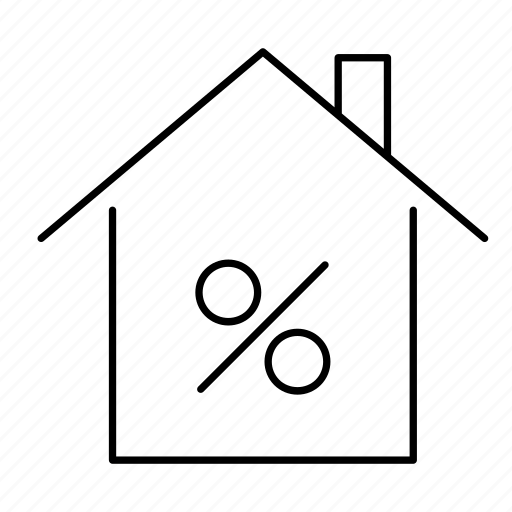 building, discount, home, house, percentage, sale icon
