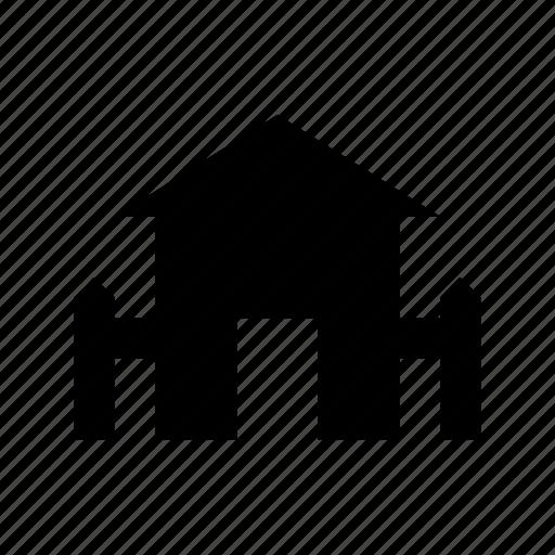 building, farmhouse, home, house, silo icon
